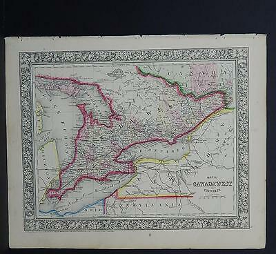 Antique Map, Mitchell, 1865 Canada (West) M8#07
