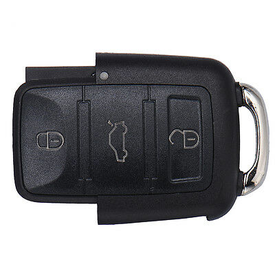Replacement Entry Remote Key Fob Shell Case 3 Buttons for Volkswagen Golf Jetta