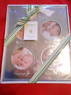 "NEW- CARTER'S ""Little Giftables"" BABY'S FIRST Photo Frame"