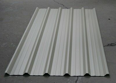 10 x Cheap Steel Metal Grey Box Profile Roofing Cladding 6FT Long Roof Sheets