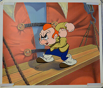 Max Fleischer Gabby On Scaffolding From Gulliver's Travels Animation Cel W/coa