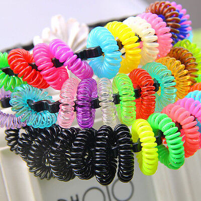 12pcs Colorful Elastic Rubber Hair Ties Band Rope Ponytail Holder for Girl Kids