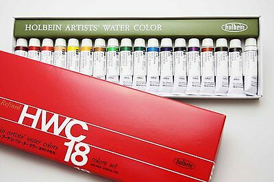 Holbein - Artists' Watercolor Tube Set - 5ml 18 Color Set (W403) Japan