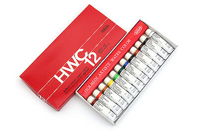 Holbein - Artists' Watercolor Tube Set - 5ml 12 Color Set (W401) Japan