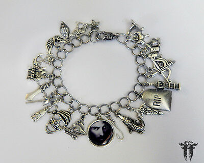 Once Upon A Time Captain Hook Inspired Photo Charm Bracelet Fairy Tale TV