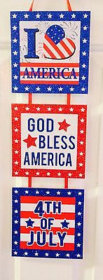 Patriotic sign 4th of July, decorations Memorial Day veterans
