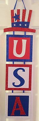 Patriotic sign USA , 4th of July, decorations Memorial Day veterans