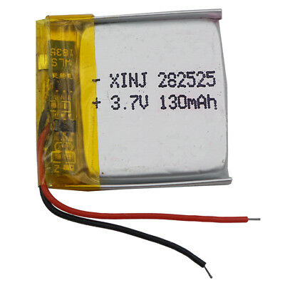 3.7V 130 mAh Polymer Li Lithium Cells For GPS bluetooth headset sat Nav 282525