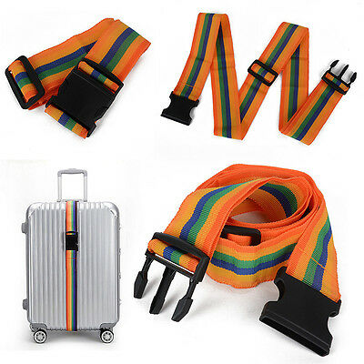 New Travel Luggage Suitcase Strap Baggage Backpack Bag Belt Rainbow Color
