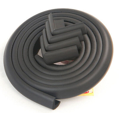 Baby Safety Table Edge Cushion Protector Wide Foam Guard Bumper Softener Black