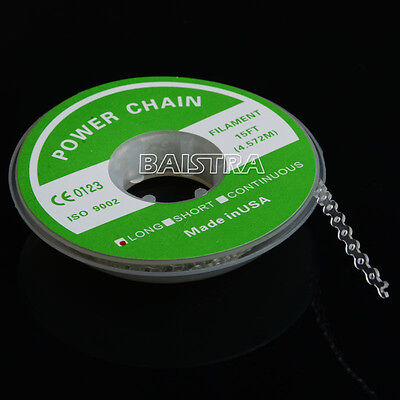 Dental Orthodontic Accessories Elastic Chain Power Chain Long Size Clear Color