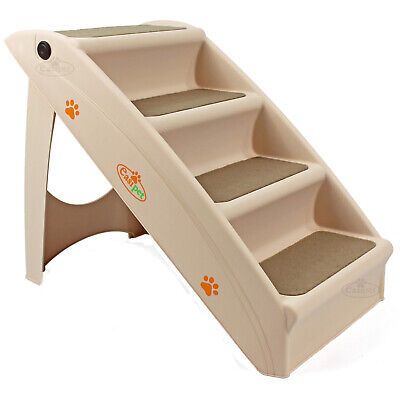 Dog Pet Puppy Plastic Foldable Stairs Folding Ramp Access Steps Lightweight
