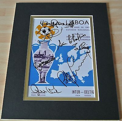 Celtic 1967 European Cup Signed x 7 Players Autographs 10X8 Photo Display & COA