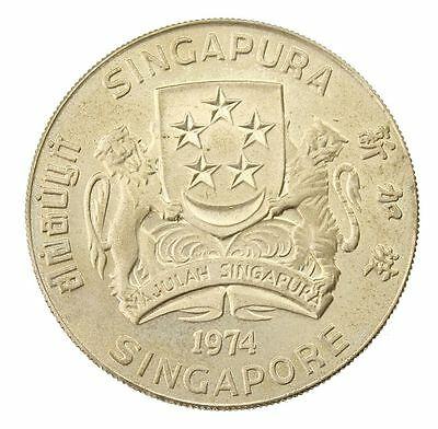 1974 Singapore - $10 Dollars - Silver Coin