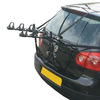 Hollywood Express 3 Bike Car Rack Fully Assembled 6 Straps For Maximum Security