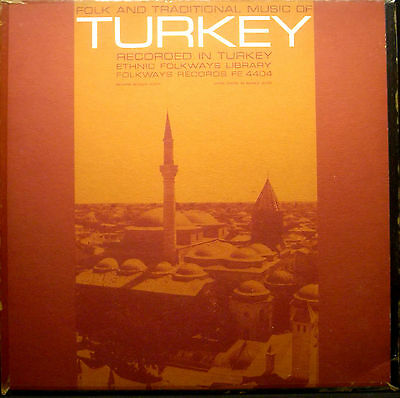 LP FOLK AND TRADITIONAL MUSIC OF TURKEY - recorded in Turkey, Ethnic Folkways