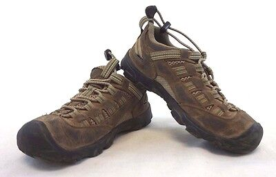 KEEN Kids Unisex Brown/Green Outdoor Lace-Up Hiking/Camping Shoes/Boots 1 [SH243