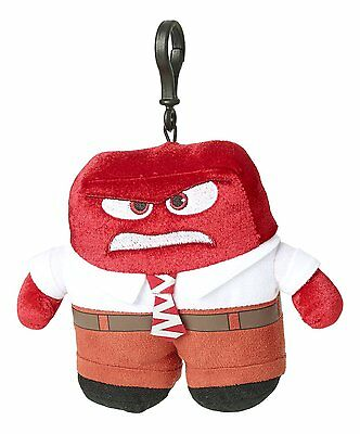 "Disney Pixar Inside Out - Anger - 6"" Plush Zippered Clip Doll 6454 - Authentic"