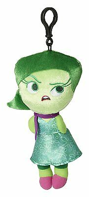 "Disney Pixar Inside Out - Disgust - 8"" Plush Zippered Clip Doll 6453 - Authentic"