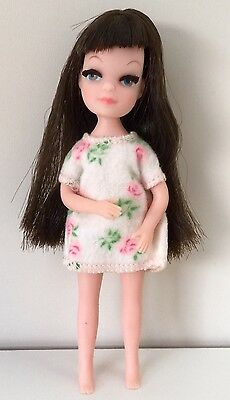 Vintage 1960s Uneeda Tiny Teen Doll Brunette  Original Clothing & Hair Excellent