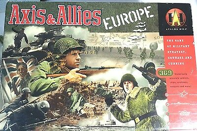 Complete Axis & Allies Europe Board Game Avalon Hill War Strategy Milton Bradley