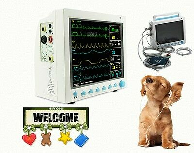 US Seller Portable Veterinary Vital Sign Patient Monitor,6 Parameters CMS8000VET