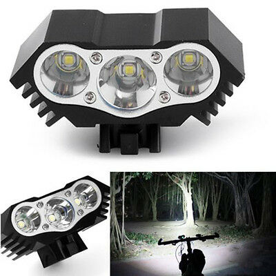 10000 Lm 3 x XML T6 LED 3 Modes Bicycle Lamp Bike Light Headlight Cycling Torch