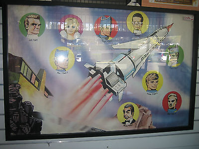Framed Thunderbirds Vintage Movie Tv show poster t'bird 1 with team members