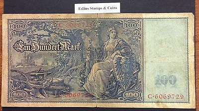 1910 100 Marks Banknote Germany circulated condition - 6069729