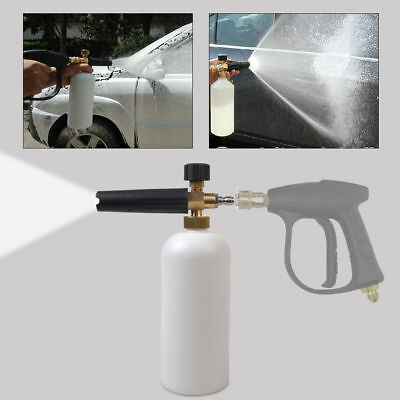 "Useful 1L 1/4"" Adjustable Car Wash Gun Snow Foam Lance Washer Soap Bottle Cannon"