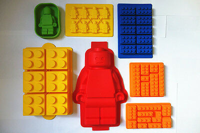8 Style Silicone Ice Tray Cake Mold Chocolate Mould Jello Mold  For Lego Fan
