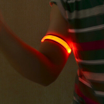 Cycling Safety Reflective Flashing LED Glow Armband Visible Arm Strap Wearable