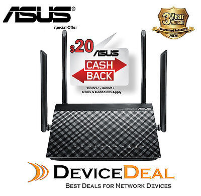 ASUS DSL-AC52U 802.11ac Wi-Fi ADSL/VDSL Dual Band Modem Router 3 Years Warranty