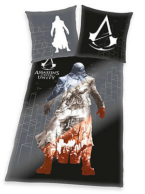 SET LETTO Assassin's Creed Unity Single Duvet Cover and Pillowcase Set