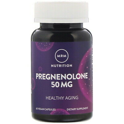 MRM Pregnenolone 50 mg, 60 Caps Supports Healthy Aging menopausia antiedad