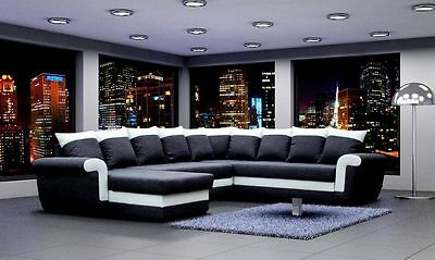 ecksofa sitzecke garnitur longchair kunstleder wei r ckenfunktion relax 28730 eur 799 00. Black Bedroom Furniture Sets. Home Design Ideas