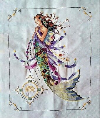 """New Finished completed cross stitch Needlepoint""""MERMAID""""gift decor sale"""