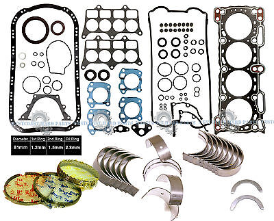 88-91 Honda Prelude Si 2.0L DOHC B20A5 FULL GASKET SET WITH ENGINE *RE-RING KIT*