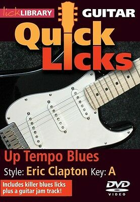 Lick Library ERIC CLAPTON QUICK LICKS Up Tempo Blues Guitar Lessons Video DVD