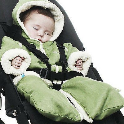 Wallaboo Winter Fleece Suit, 0-6mts, Lime Green.