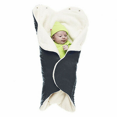 Wallaboo Wrapper Nore, Luxurious Blanket Perfect For Cold Weather, Baby Black