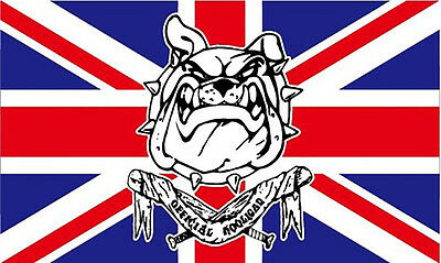 GIZZY® British Bulldog (Official Hooligan) 5' x 3' flag