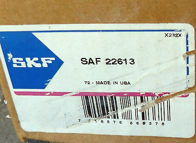 New In Box Skf Saf 22613 Pillow Block Bearing 2-3/16