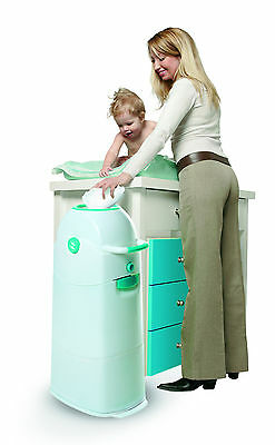 Diaper Champ, Odourless Diaper / Nappy Pail System, 3061 Large , Blue.