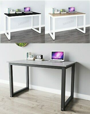 FoxHunter PC Computer Desk Corner Wooden Desktop Table Office Workstation Modern