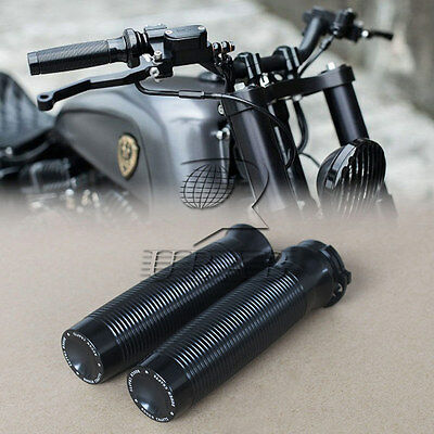 "Black Rough Crafts 1"" Handlebar Grips F Harley Sportster XL1200 883 Forty-Eight"