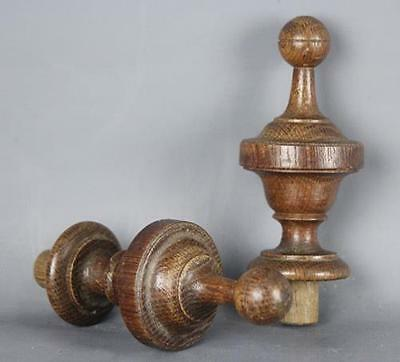 Antique Hand Turned Wooden Finials