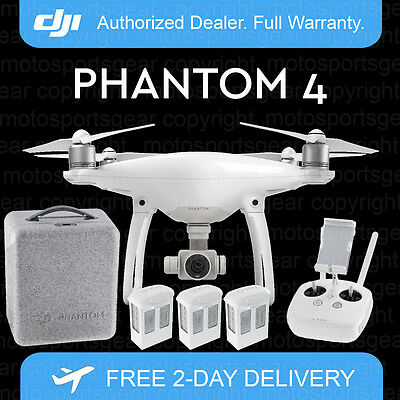 Dji Phantom 4 Drone With 4K Camera, Free Case & 2 Extra Batteries. Just Released