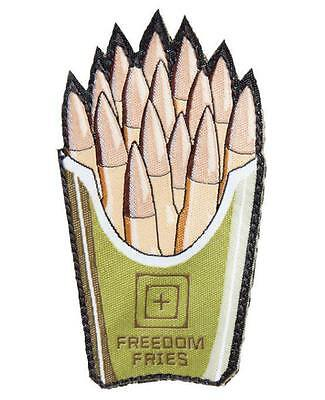 "OD Green 5.11 Tactical ""Freedom Fries"" Embroidered Hook & Loop Moral Patch"