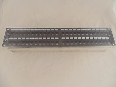 Signa Max S48-458C5-B CAT5 CAT5E UTP 48 Port LAN Patch Panel 2U 110 EB3 T